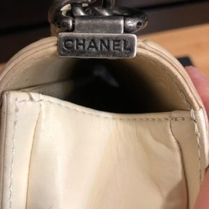 CHANEL Bags - Chanel old medium le boy two tone